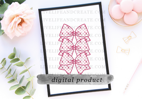 DIGITAL bowmarker 4.5 pink monogram