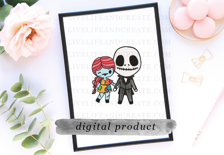 DIGITAL: jack and sally holding hands
