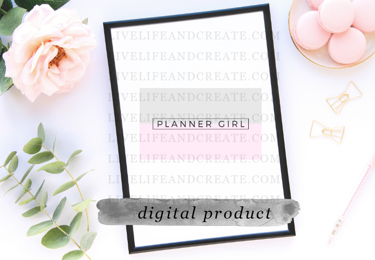 DIGITAL planner girl card