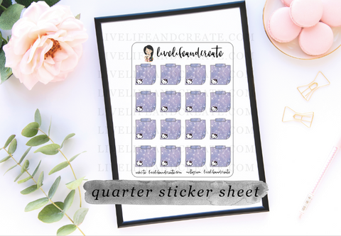 Purple Stellar HK Stickies