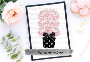 Cyber Monday Special Only LV Floral bookmarker 6.0