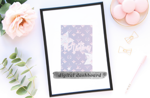 DIGITAL DESIGNER INSPIRED NAME DASHBOARD
