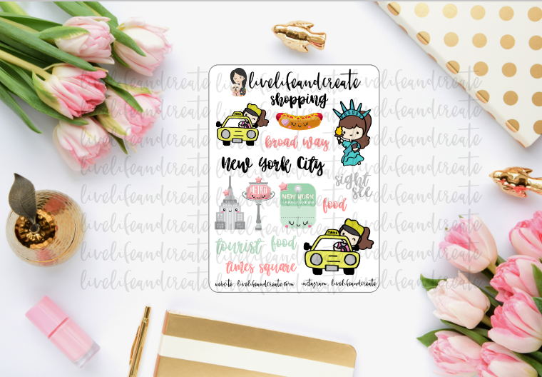 NYC Girl Travel Deco Sheet