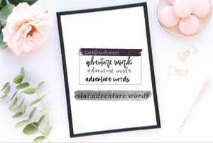 MINI: ADVENTURE WORDS
