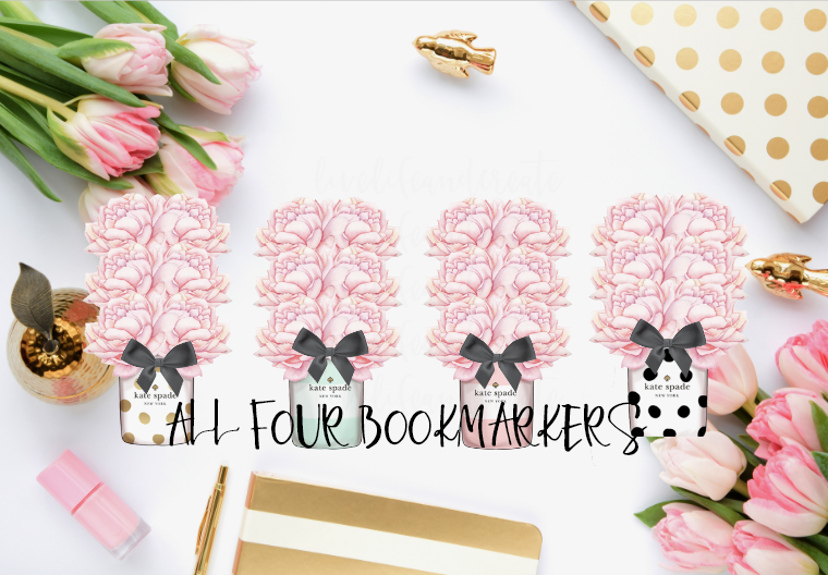 All 4 floral book markers or individual
