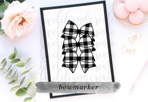 Buffalo Plaid bow maker 4.5 inches