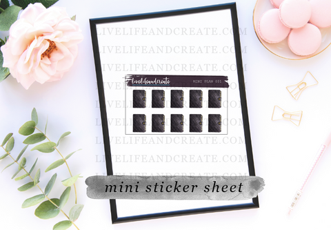 MINI sheet designer planner