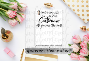 Customize your own sticker sheet!