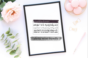 MINI DAILY BUNDLE: important, to do, priority, today, work