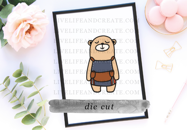 Dukey Bear Die Cut ONLY
