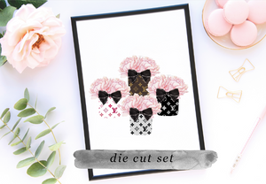 Black Friday Exclusive Floral Designer Die Cuts OR bookmarker SET