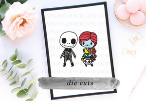 Jack and Sally Die Cuts or Sticker Sheets
