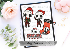 DIGITAL Jack Christmas Die Cut Bundle