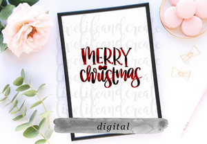 DIGITAL: Merry Christmas hand lettering