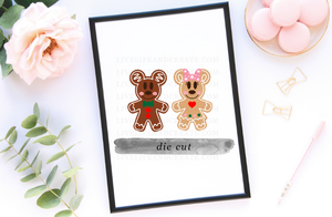 Gingerbread Boy and Girl Die Cut, Stickers, or SET