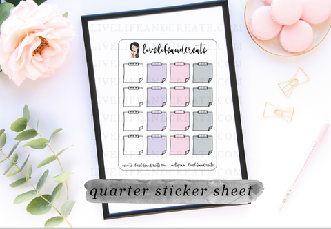 Pink, White, Grey, and Lavender Stickies