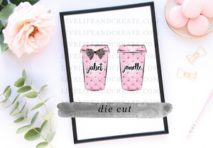 Custom Pink Die Cut Cup