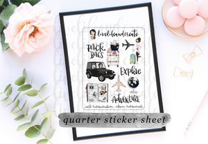 Planner Girl Travel Sticker Sheet