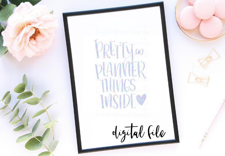 DIGITAL- pretty planner things inside