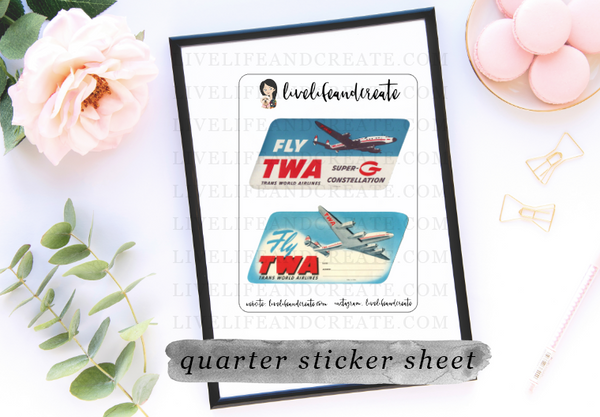 Airline vintage pack- 8 sheets