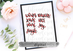 DIGITAL: Merry lettering