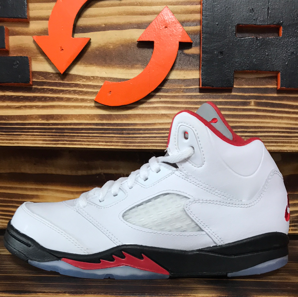 Jordan 5 Retro Fire Red Silver Tongue 2020 (PS)