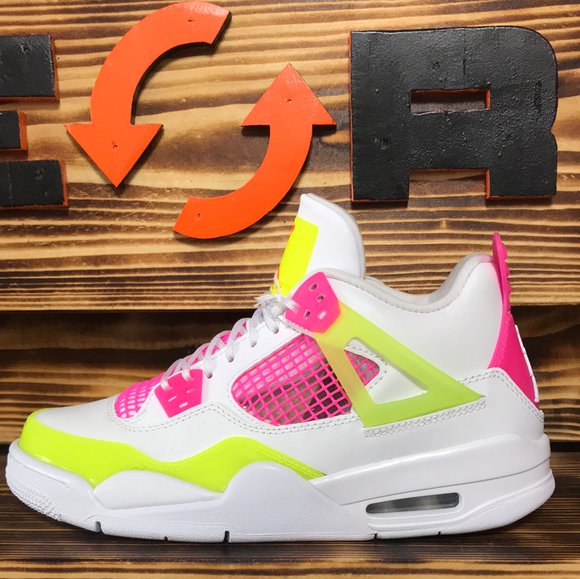 Jordan 4 Retro White Lemon Pink (GS)
