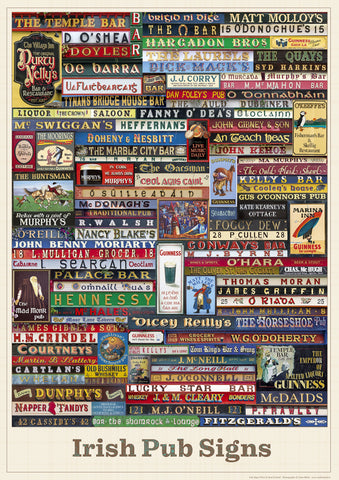 Irish Pub Signs Poster-Print