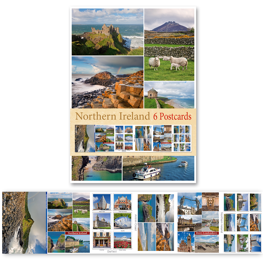 Northern Ireland - Pack of 6 Postcards