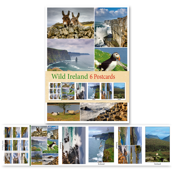 Wild Ireland - Pack of 6 Postcards