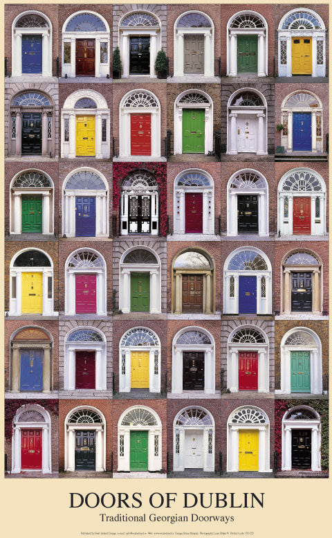 Doors of Dublin Poster & Doors of Dublin Poster | Irish Calendars