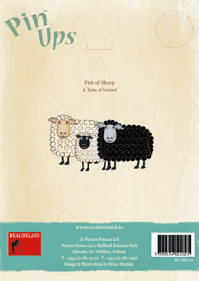 Irish Sheep Pin-Up