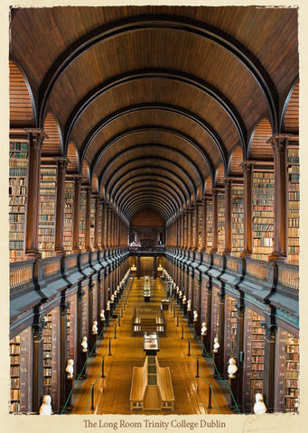 Long Room Trinity College Pin-Up