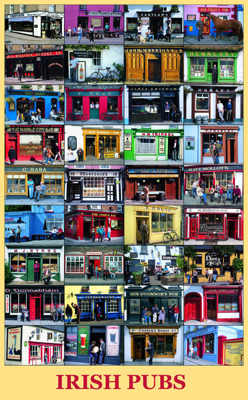 Irish Pubs Poster