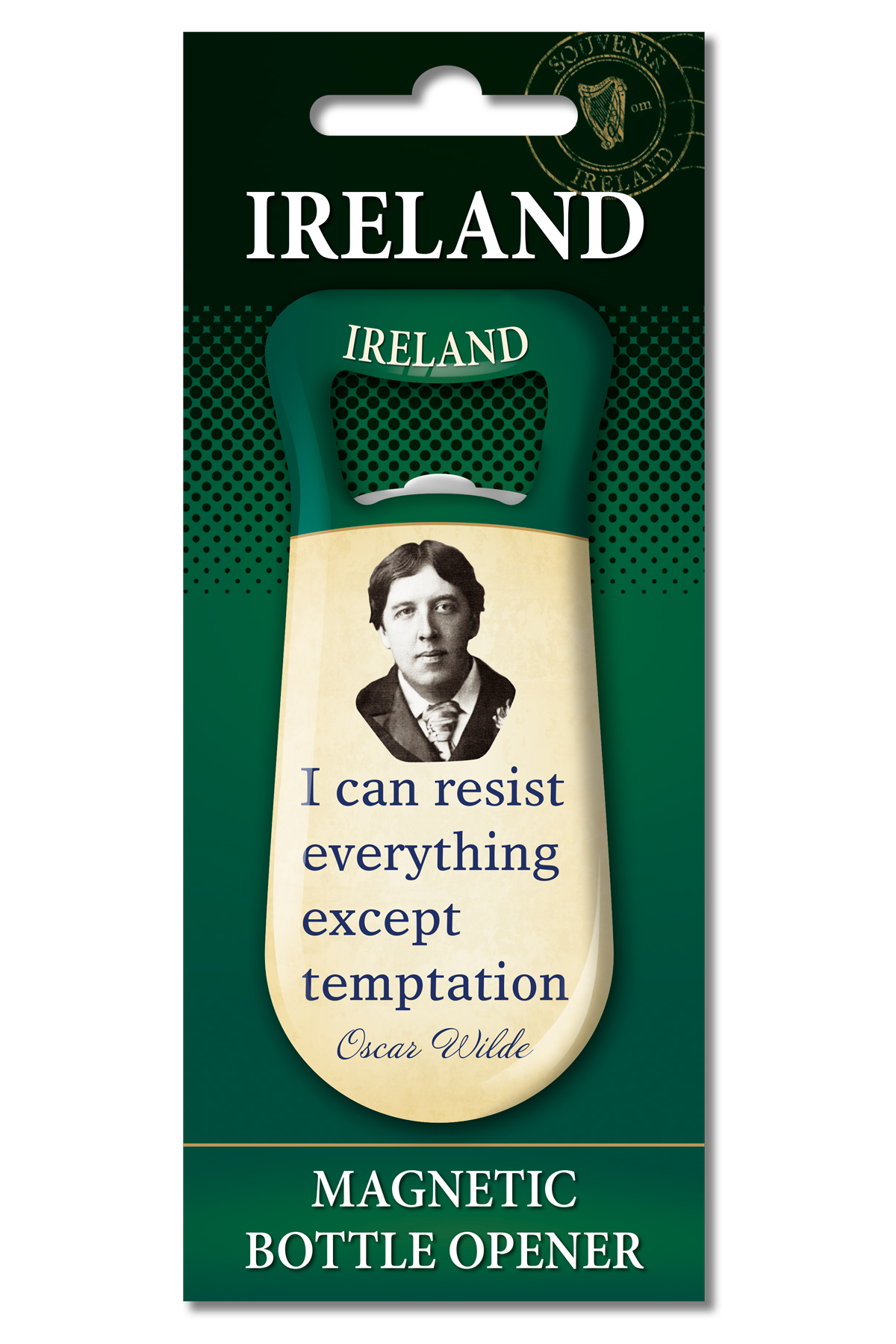 Oscar Wilde Bottle Opener - Fridge Magnet