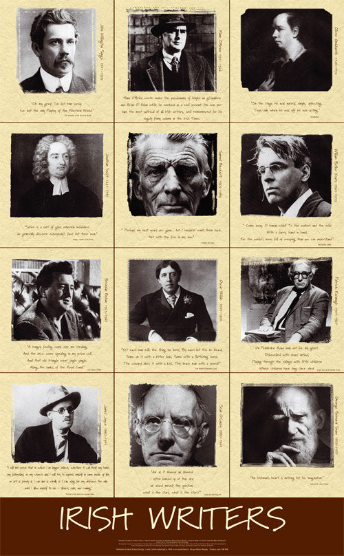 Irish Writers Poster