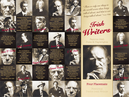 Irish Writers Placemats