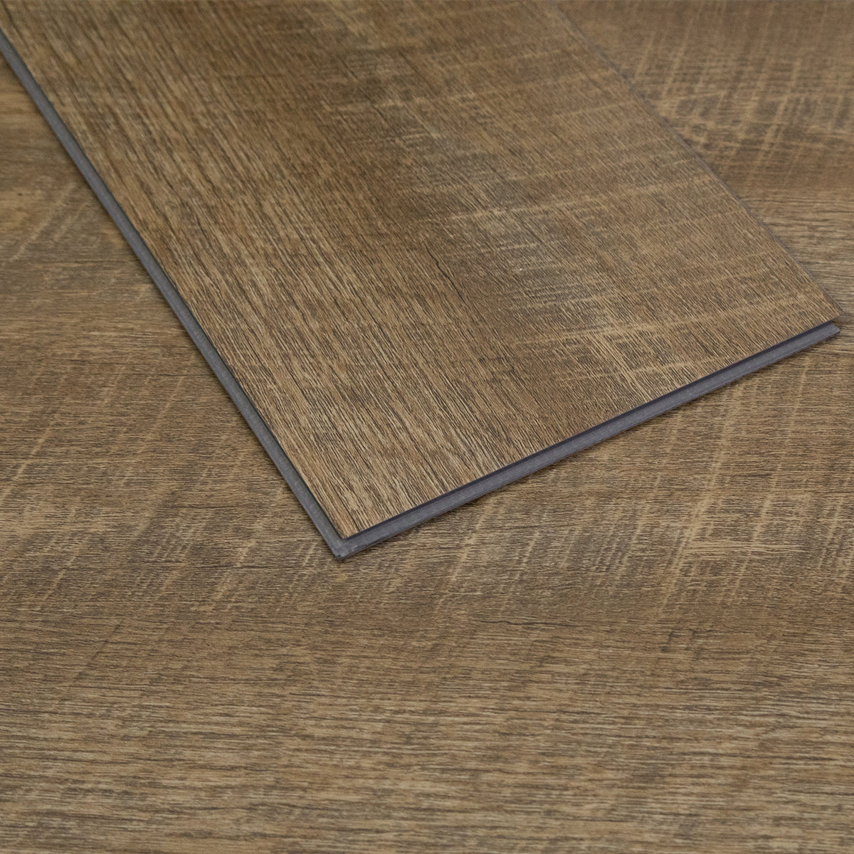 23.6 sq.ft Light Oak Rigid Core Wood Grain Finish Luxury Vinyl Plank Flooring - Foam Back