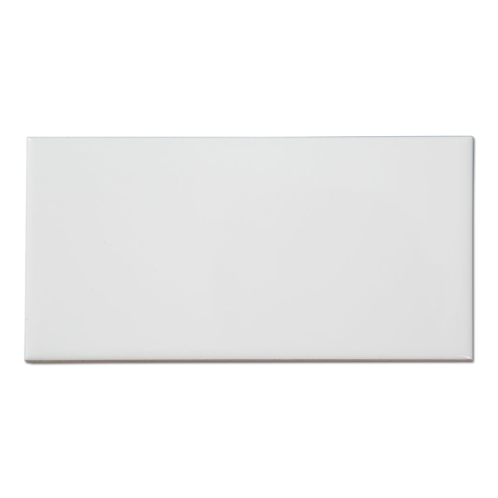 Ceramic 3 x 6 White Subway Tile Pack of 56 (7 sq.ft)