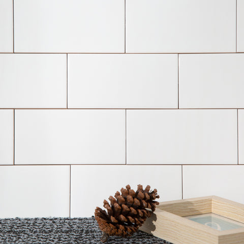 3x6 White Ceramic Subway Tile