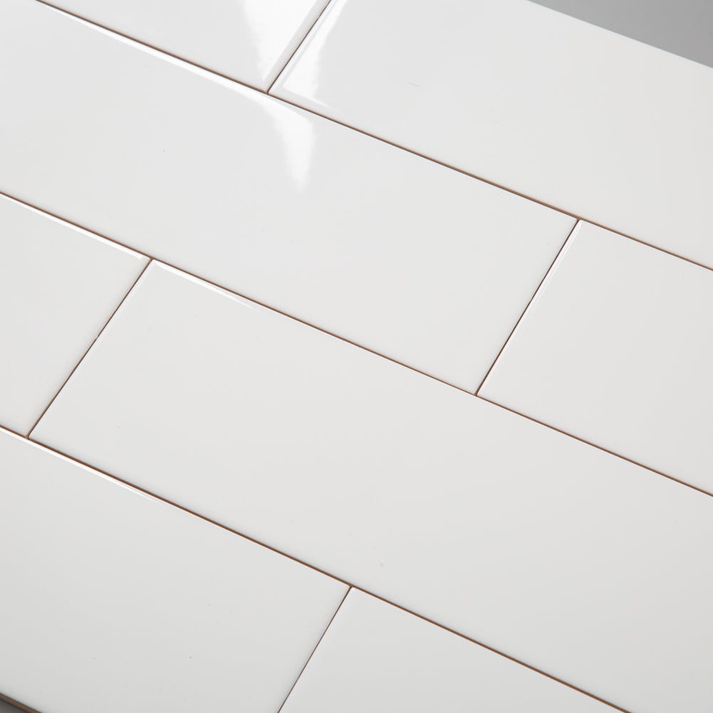 Ceramic 4x12 White Subway Tile Pack of 21 (7 sq.ft)