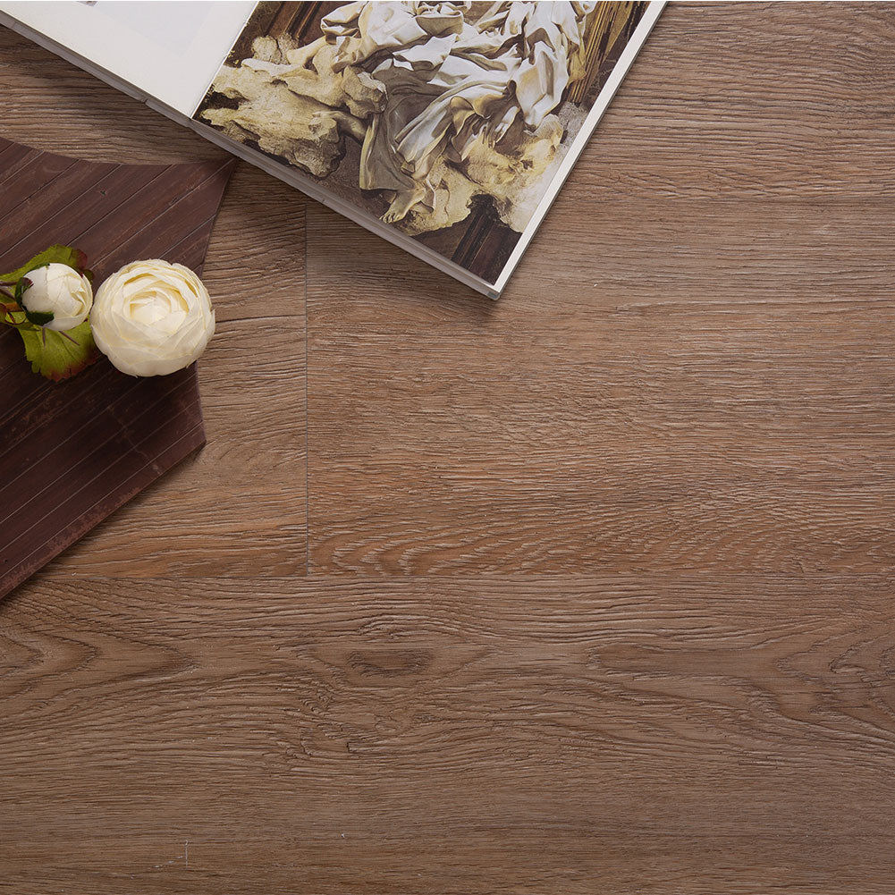 23.6 Sq.ft Classical Oak Rigid Core Floating Luxury Vinyl Plank Flooring -  Foam Back