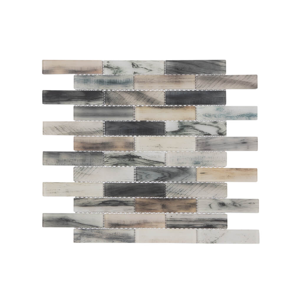 Glass Subway Tile Colorful Natural Ink Style 12 x 12 Inch (5-Pack, 5 sq.ft.)