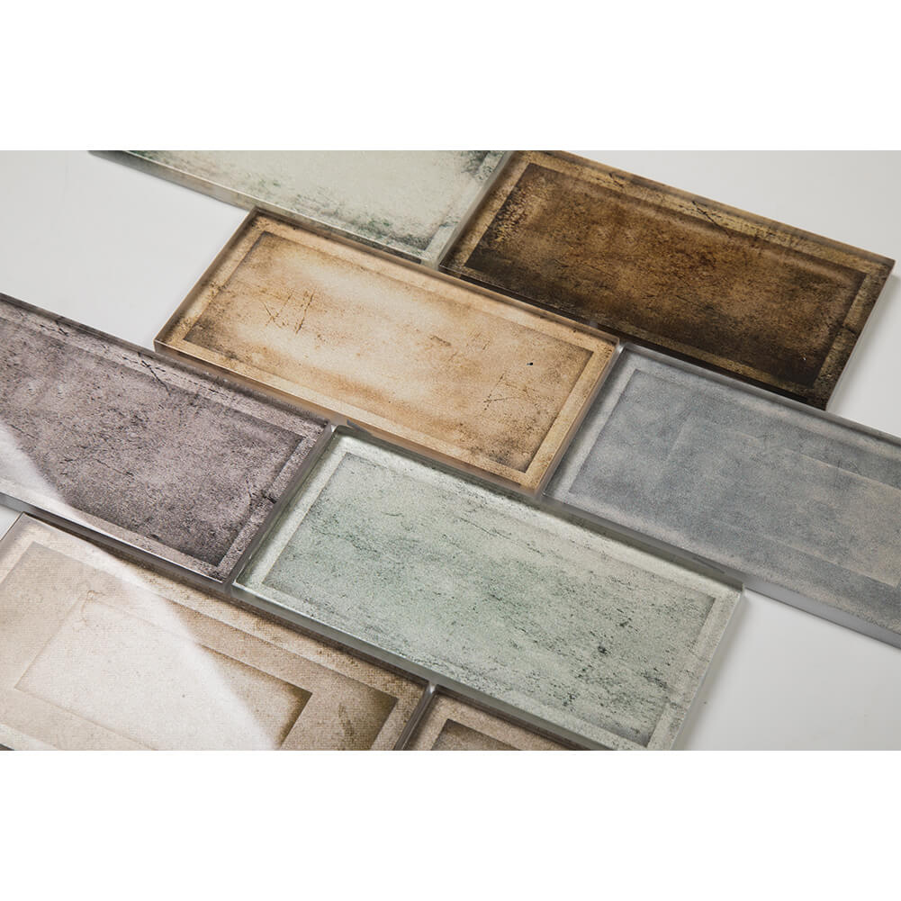 Glass Subway Tile Industrial Age Colorful 12 x 12 Inch (5-Pack, 5 sq.ft.)