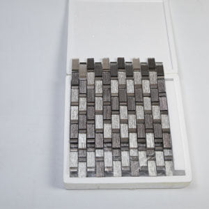 Glass Mosaic Tile Laminated Light Brown and Beige 12 x 12 Inch (5-Pack, 5 sq.ft.)