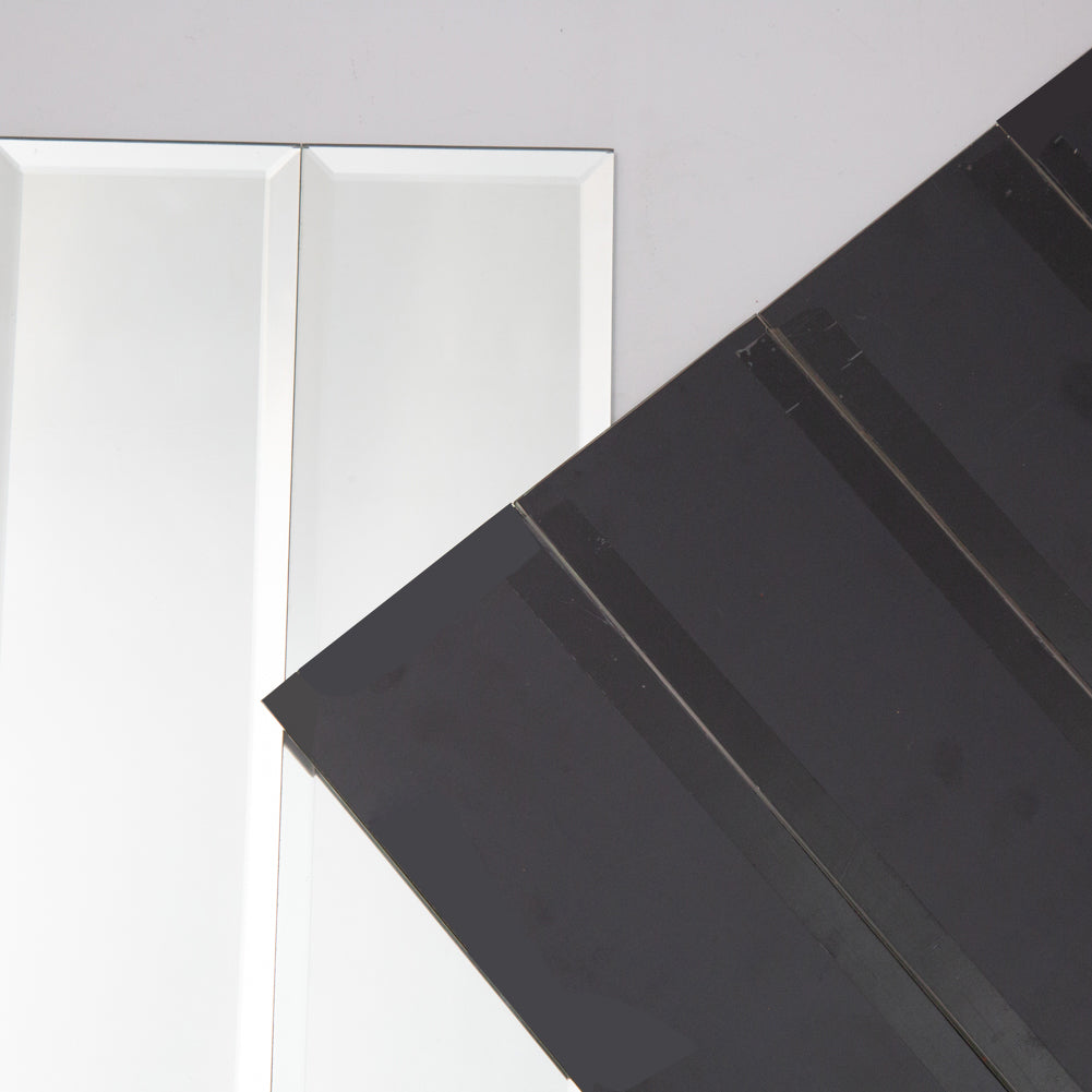 "3"" x 6"" Inch Beveled Mirror Glass Subway Tile Pack of 40"