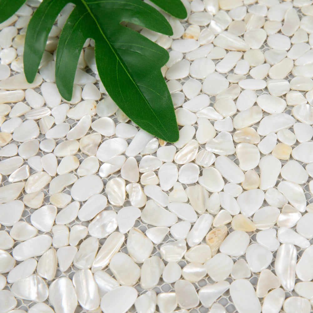 Light Colorful Pearl Shell Pebble Mosaic Tile