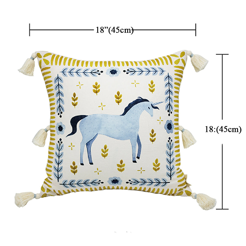 Decoration Art Cushions Case Cotton Linen Lumbar Throw Pillow Cover Pack of 2
