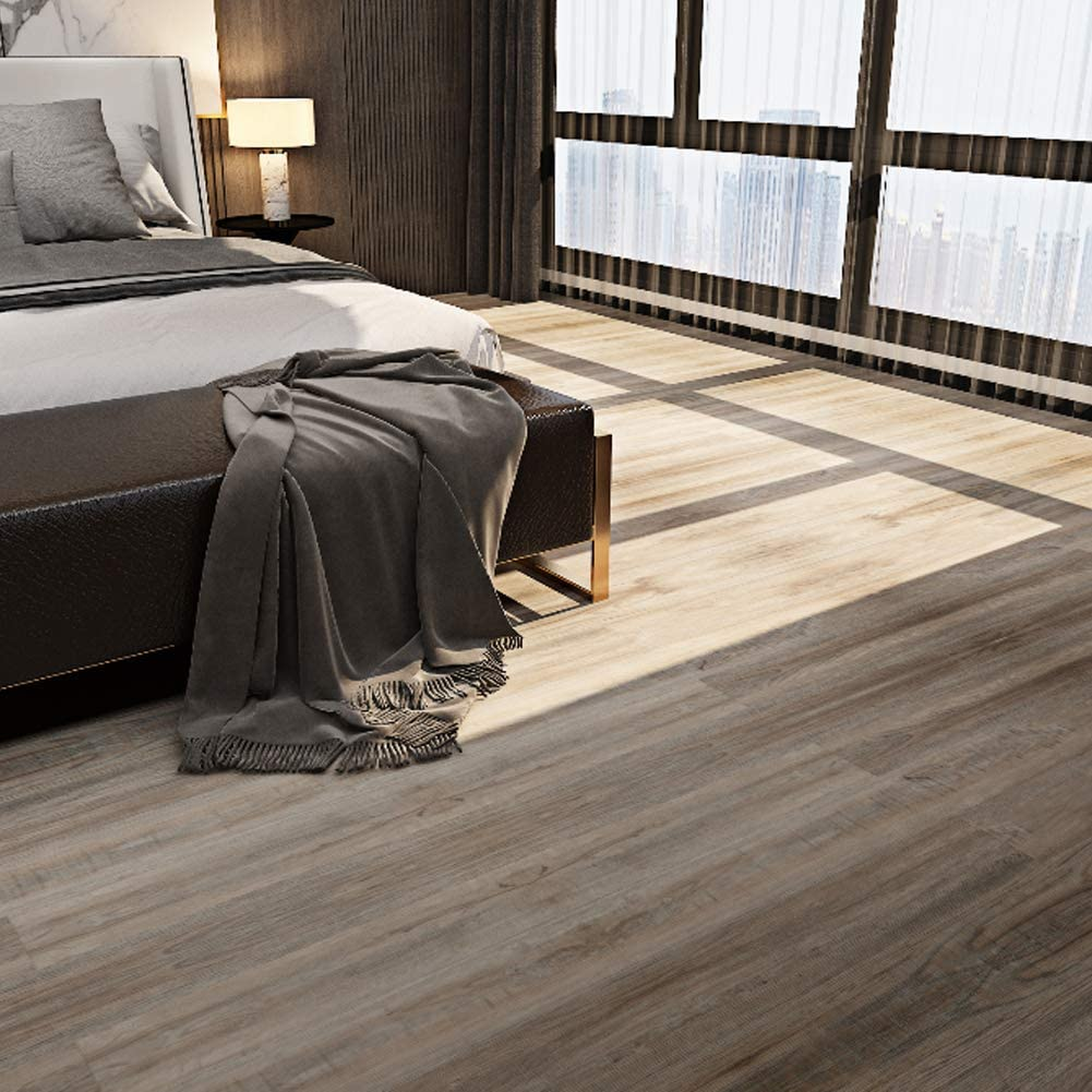 23.6 Sq.ft Provo Oak Rigid Core Locking Luxury Vinyl Plank Flooring -  Foam Back
