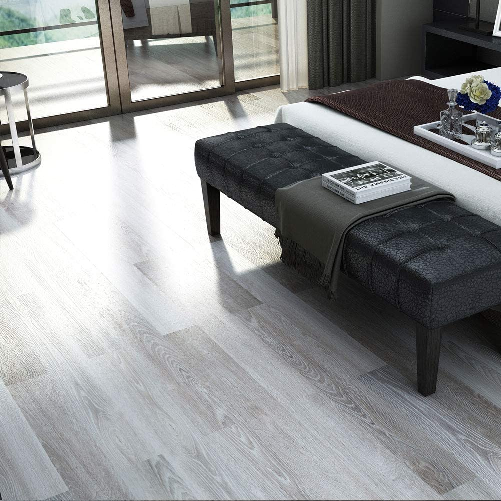 23.6 Sq.ft Cantha Oak Rigid Core Floating Locking Luxury Vinyl Plank Flooring - Foam Back